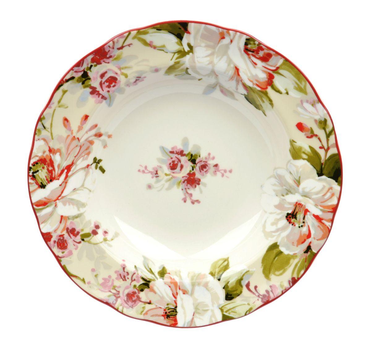Тарелка глубокая Utana Эмилия, диаметр 22,5 смUTEM97920Тарелка Utana Эмилия изготовлена из высококачественной керамики. Предназначена для подачи супа или салата. Изделие декорировано оригинальным орнаментом. Такая тарелка украсит сервировку стола и подчеркнет прекрасный вкус хозяйки. Можно мыть в посудомоечной машине и использовать в СВЧ. Диаметр: 22,5 см. Высота: 4,5 см.
