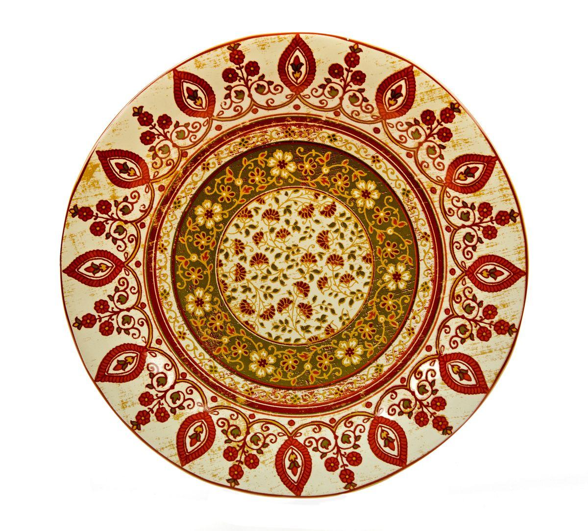 Тарелка обеденная Utana Кашмир, диаметр 27 смUTG41110Тарелка обеденная Utana Кашмир изготовлена из высококачественной керамики. Предназначена для красивой подачи различных блюд. Изделие украшено ярким рисунком. Такая тарелка украсит сервировку стола и подчеркнет прекрасный вкус хозяйки. Можно мыть в посудомоечной машине и использовать в микроволновой печи. Диаметр: 27,5 см. Высота: 3 см.