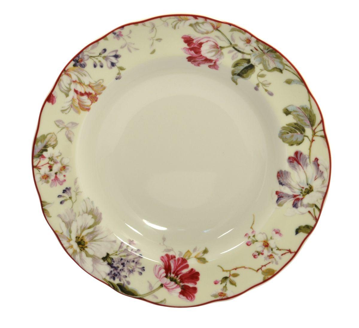 Тарелка глубокая Utana Жизела, диаметр 23,5 смUTGC97920Тарелка Utana Жизела изготовлена из высококачественной керамики. Предназначена для подачи супа или салата. Изделие декорировано цветочным принтом. Такая тарелка украсит сервировку стола и подчеркнет прекрасный вкус хозяйки. Можно мыть в посудомоечной машине и использовать в СВЧ. Диаметр: 23,5 см. Высота: 4 см.