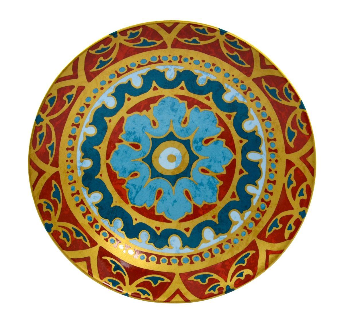 Тарелка глубокая Utana Голден Палас, диаметр 22 смUTGP67840Тарелка Utana Голден Палас изготовлена из высококачественной керамики. Предназначена для подачи супа или салата. Изделие декорировано оригинальным орнаментом. Такая тарелка украсит сервировку стола и подчеркнет прекрасный вкус хозяйки. Можно мыть в посудомоечной машине и использовать в СВЧ. Диаметр: 22 см. Высота: 4,5 см.