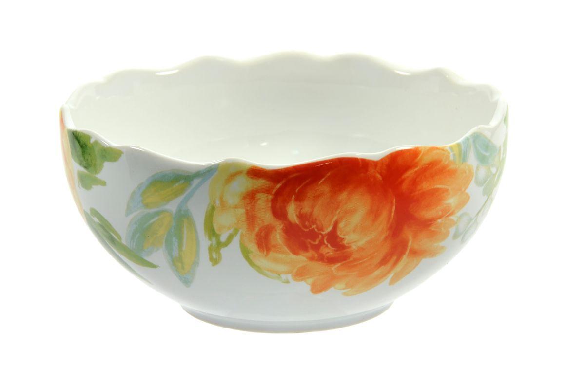 Салатница Utana Пионы, диаметр 14,5 смUTHH17640Салатница Utana Пионы изготовлена из высококачественной керамики и украшена изысканным рисунком цветов. Такое изделие прекрасно подойдет для холодных и горячих блюд: каш, хлопьев, супов, салатов и многого другого. Оригинальная салатница станет украшением любого стола и прекрасно подойдет для использования, как дома, так и на даче или пикниках. Можно использовать в микроволновой печи и посудомоечной машине. Диаметр салатницы (по верхнему краю): 14,5 см. Высота стенки: 7,5 см.