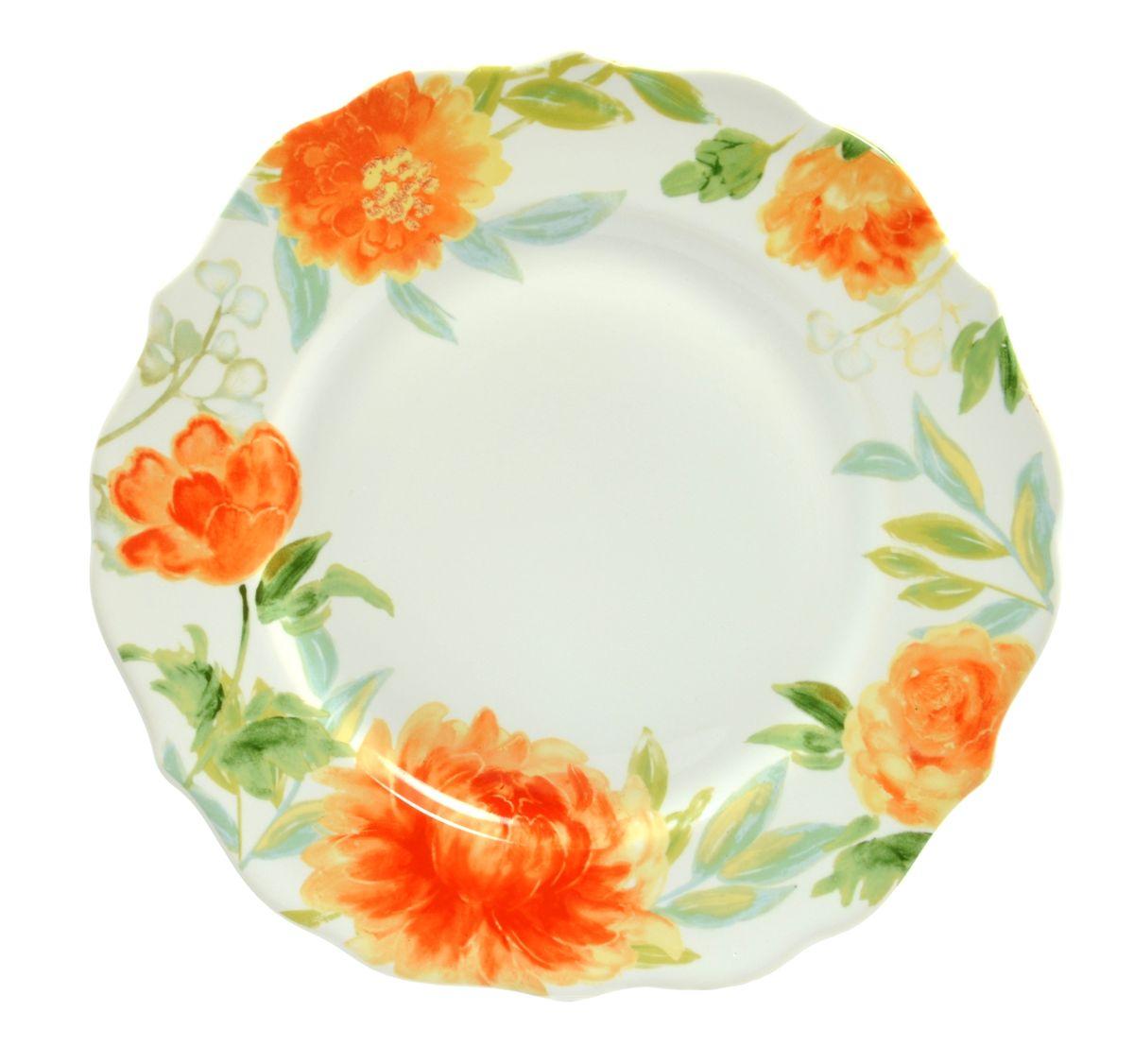 Тарелка обеденная Utana Пионы, диаметр 26,5 смUTHH94110Тарелка обеденная Utana Пионы изготовлена из высококачественной керамики. Предназначена для красивой подачи различных блюд. Изделие декорировано ярким рисунком. Такая тарелка украсит сервировку стола и подчеркнет прекрасный вкус хозяйки. Можно мыть в посудомоечной машине и использовать в СВЧ. Диаметр: 26,5 см. Высота: 3 см.