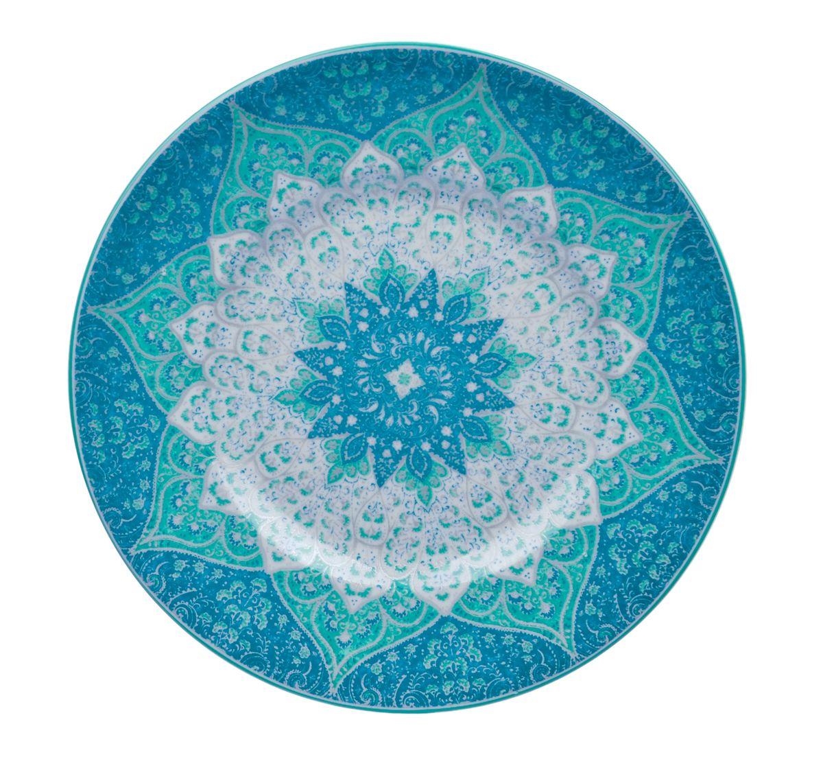 Тарелка обеденная Utana Кашан Блю, диаметр 27 смUTKB94110Тарелка обеденная Utana Кашан Блю изготовлена из высококачественной керамики. Предназначена для красивой подачи различных блюд. Изделие декорировано ярким рисунком. Такая тарелка украсит сервировку стола и подчеркнет прекрасный вкус хозяйки. Можно мыть в посудомоечной машине и использовать в СВЧ. Диаметр: 27 см. Высота: 2,5 см.