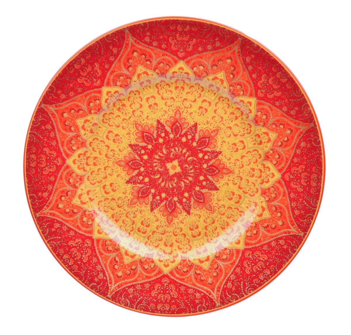 Тарелка обеденная Utana Кашан Рэд, диаметр 27,5 смUTKR94110Тарелка обеденная Utana Кашан Рэд изготовлена из высококачественной керамики. Предназначена для красивой подачи различных блюд. Изделие декорировано ярким рисунком. Такая тарелка украсит сервировку стола и подчеркнет прекрасный вкус хозяйки. Можно мыть в посудомоечной машине и использовать в СВЧ. Диаметр: 27 см. Высота: 3 см.