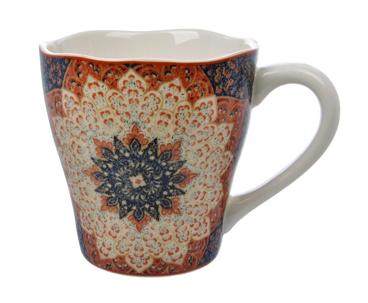 Кружка Kashan Sienna, 450 млUTKS41601Кружка Kashan Sienna изготовлена из высококачественной керамики. Внешние стенки изделия оформлены красочным цветочным рисунком. Такая кружка прекрасно подойдет для горячих и холодных напитков. Она дополнит коллекцию вашей кухонной посуды и будет служить долгие годы. Можно использовать в посудомоечной машине и СВЧ. Объем кружки: 450 мл. Диаметр кружки (по верхнему краю): 10,5 см. Высота стенки кружки: 11 см.