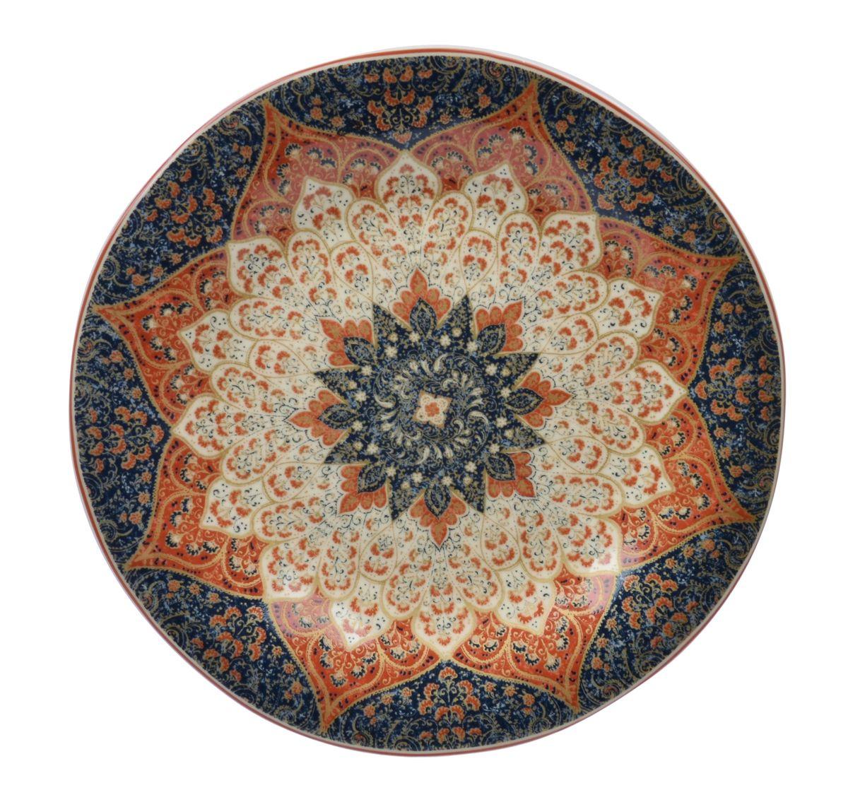 Тарелка десертная Utana Кашан Сиена, диаметр 23 смUTKS41810Тарелка десертная Utana Кашан Сиена изготовлена из высококачественной керамики. Предназначена для красивой подачи различных блюд. Изделие декорировано ярким рисунком. Такая тарелка украсит сервировку стола и подчеркнет прекрасный вкус хозяйки. Можно мыть в посудомоечной машине и использовать в СВЧ. Диаметр: 23 см. Высота: 2,5 см.