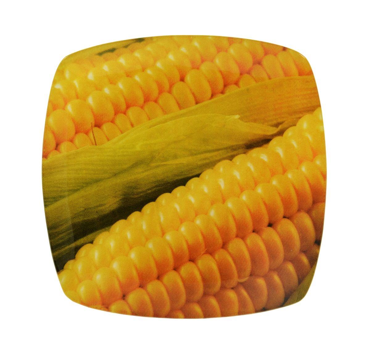Тарелка Zibo Shelley Кукуруза, 19,5 х 19,5 смZSCR350008B136Квадратная тарелка Zibo Shelley Кукуруза, изготовленная из стекла, декорирована ярким изображением початка кукурузы. Она не только украсит сервировку вашего стола и подчеркнет прекрасный вкус хозяина, но и станет отличным подарком. Можно использовать в посудомоечной машине. Размер по верхнему краю: 19,5 см х 19,5 см. Высота: 1 см.