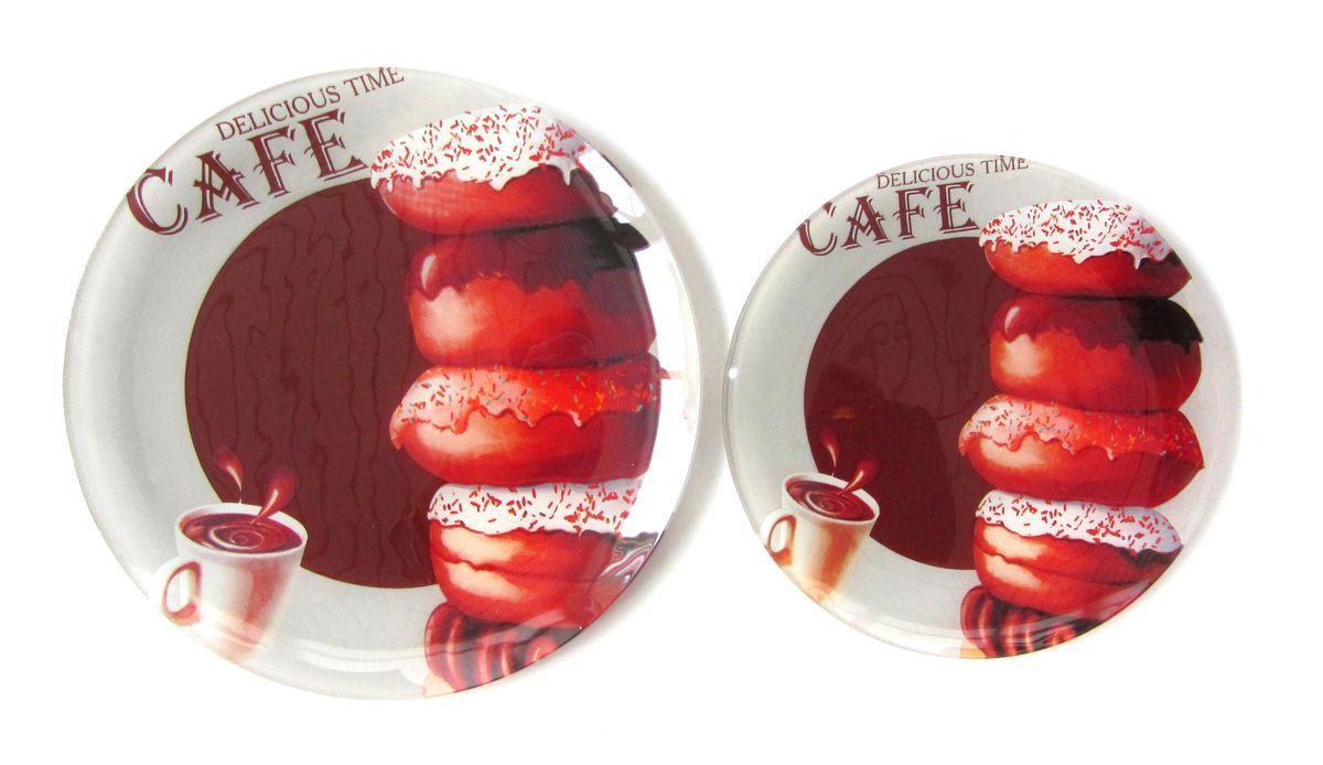 Тарелка Zibo Shelley Пончики шоколад, диаметр 25 смZSDC3210Тарелка Zibo Shelley Пончики шоколад изготовлена из высококачественного стекла. Предназначена для красивой подачи различных блюд. Изделие декорировано яркой красочной картинкой. Такая тарелка украсит сервировку стола и подчеркнет прекрасный вкус хозяйки. Можно мыть в посудомоечной машине. Диаметр: 25 см. Высота: 1,5 см.