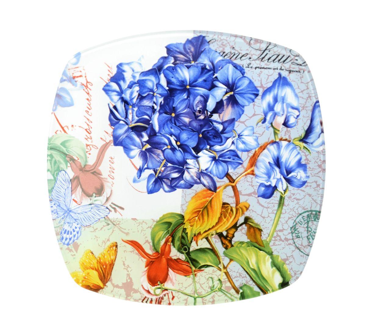 Тарелка Zibo Shelley Флоксы, 20 см х 20 смZSFL350008BКвадратная тарелка Zibo Shelley Флоксы, изготовленная из стекла, декорирована ярким изображением цветов. Она не только украсит сервировку вашего стола и подчеркнет прекрасный вкус хозяйки, но и станет отличным подарком. Можно использовать в посудомоечной машине и СВЧ. Размер по верхнему краю: 20 см х 20 см. Высота: 1,5 см.