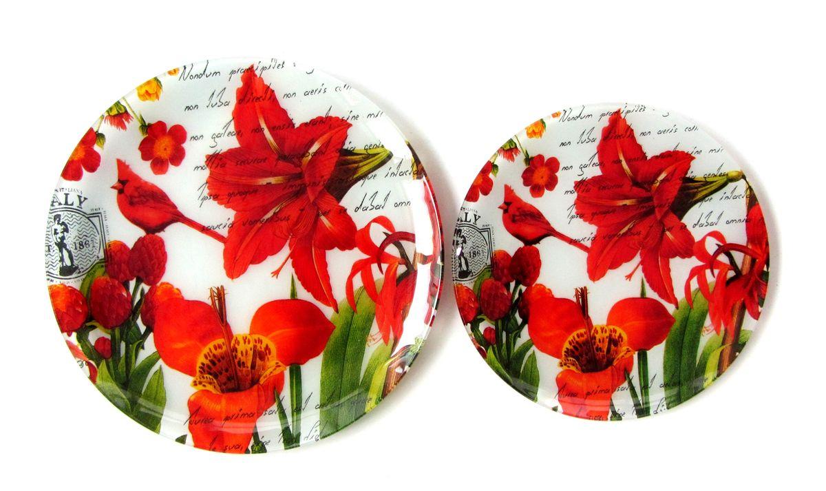 Тарелка Zibo Shelley Лилии, диаметр 20 смZSLI3008L075Тарелка Zibo Shelley Лилии изготовлена из высококачественного стекла. Предназначена для красивой подачи различных блюд. Изделие украшено ярким изображением цветов. Такая тарелка украсит сервировку стола и подчеркнет прекрасный вкус хозяйки. Можно мыть в посудомоечной машине. Диаметр: 20 см. Высота: 1 см.