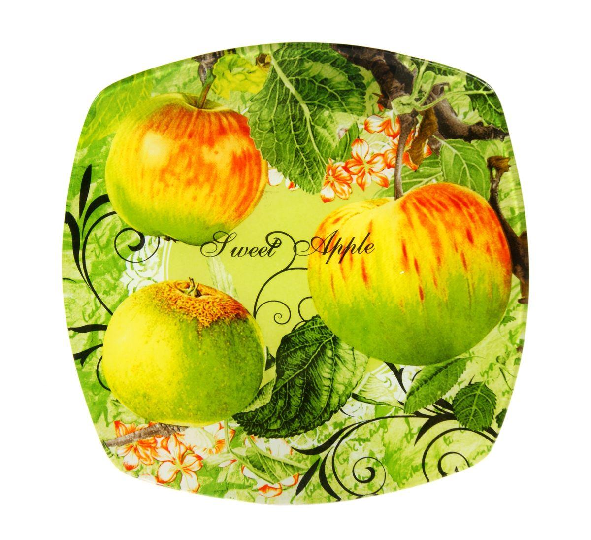 Тарелка Zibo Shelley Райские яблочки, 19,5 см х 19,5 смZSPA350008Тарелка Zibo Shelley Райские яблочки изготовлена из высококачественного стекла. Предназначена для красивой подачи различных блюд. Изделие декорировано оригинальной яркой картинкой. Такая тарелка украсит сервировку стола и подчеркнет прекрасный вкус хозяйки. Можно мыть в посудомоечной машине. Размер изделия (по верхнему краю): 19,5 см х 19,5 см. Высота изделия: 2 см.