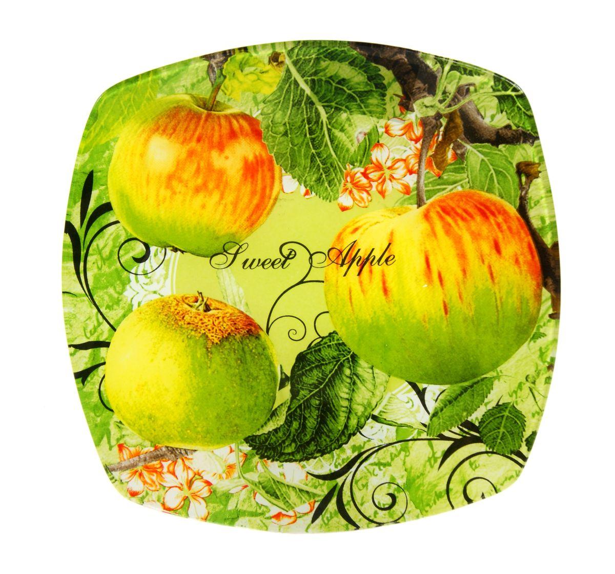 Тарелка Zibo Shelley Райские яблочки, 25 х 25 смZSPA350010Квадратная тарелка Zibo Shelley Райские яблочки, изготовленная из стекла, декорирована ярким изображением яблок. Она не только украсит сервировку вашего стола и подчеркнет прекрасный вкус хозяина, но и станет отличным подарком. Можно использовать в посудомоечной машине и СВЧ. Размер по верхнему краю: 25 см х 25 см. Высота: 1,9 см.