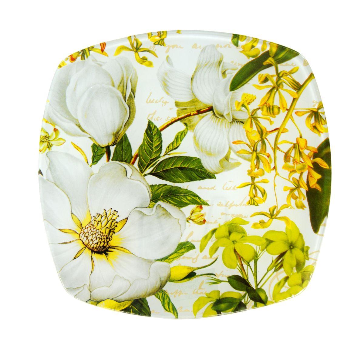 Тарелка Zibo Shelley Белая роза, 20 см х 20 смZSWR350008Тарелка Zibo Shelley Белая роза изготовлена из высококачественного стекла и предназначена для красивой подачи различных блюд. Изделие декорировано оригинальной яркой картинкой. Такая тарелка украсит сервировку стола и подчеркнет прекрасный вкус хозяйки. Можно мыть в посудомоечной машине. Размер изделия (по верхнему краю): 20 см х 20 см. Высота изделия: 1,5 см.