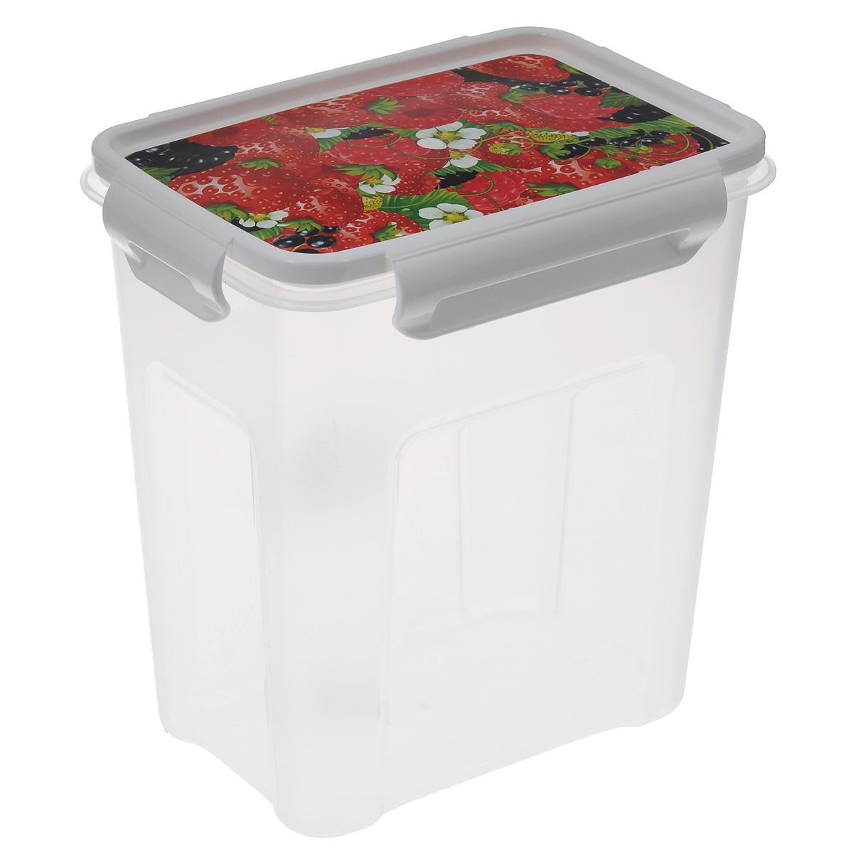 Контейнер Полимербыт Лок декор, 1,8 лС76301Контейнер Полимербыт Лок декор прямоугольной формы, изготовленный из прочного пластика, предназначен специально для хранения пищевых продуктов. Крышка, декорированная изображением ягод, легко открывается и плотно закрывается. Контейнер устойчив к воздействию масел и жиров, легко моется. Прозрачные стенки позволяют видеть содержимое. Контейнер имеет возможность хранения продуктов глубокой заморозки, обладает высокой прочностью. Можно мыть в посудомоечной машине. Подходит для использования в микроволновых печах.