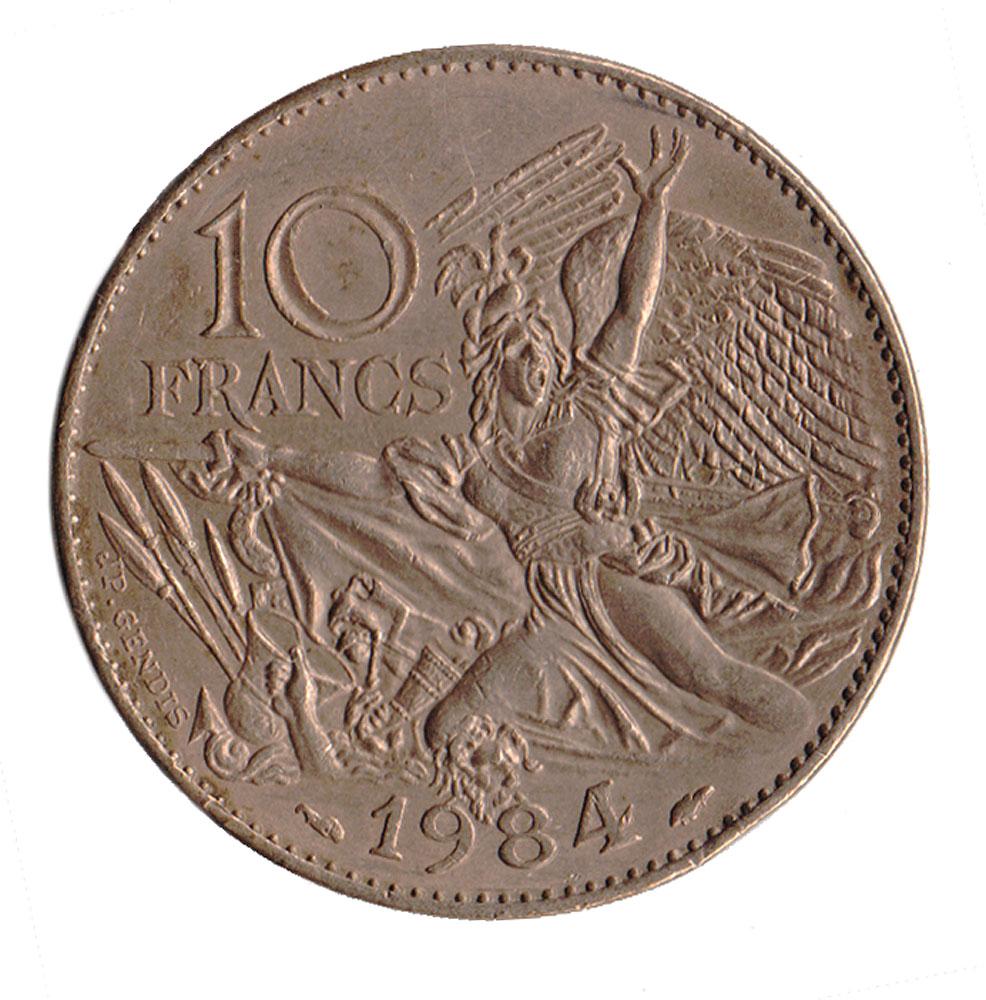 Монета номиналом 10 франков 200 лет со дня рождения Франсуа Рюда. Франция. 1984 год401306Материал: Никелевая латунь. Диаметр: 26 мм. Вес: 10 гр. Сохранность: Очень хорошая.