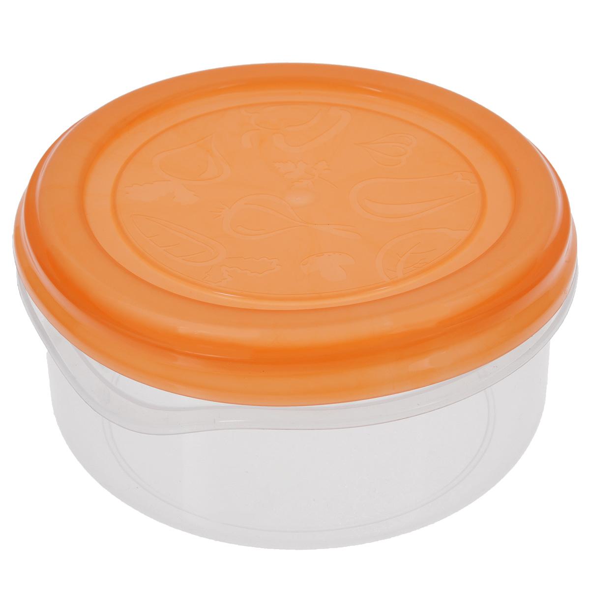 Контейнер Phibo Soft Top, цвет: оранжевый, 0,9 лС11018Контейнер Phibo Soft Top круглой формы, изготовленный из прочного пластика, предназначен специально для хранения пищевых продуктов. Крышка легко открывается и плотно закрывается. Контейнер устойчив к воздействию масел и жиров, легко моется. Прозрачные стенки позволяют видеть содержимое. Контейнер имеет возможность хранения продуктов глубокой заморозки, обладает высокой прочностью. Можно мыть в посудомоечной машине. Подходит для использования в микроволновых печах. Диаметр: 14,5 см. Высота (без учета крышки): 6,5 см.