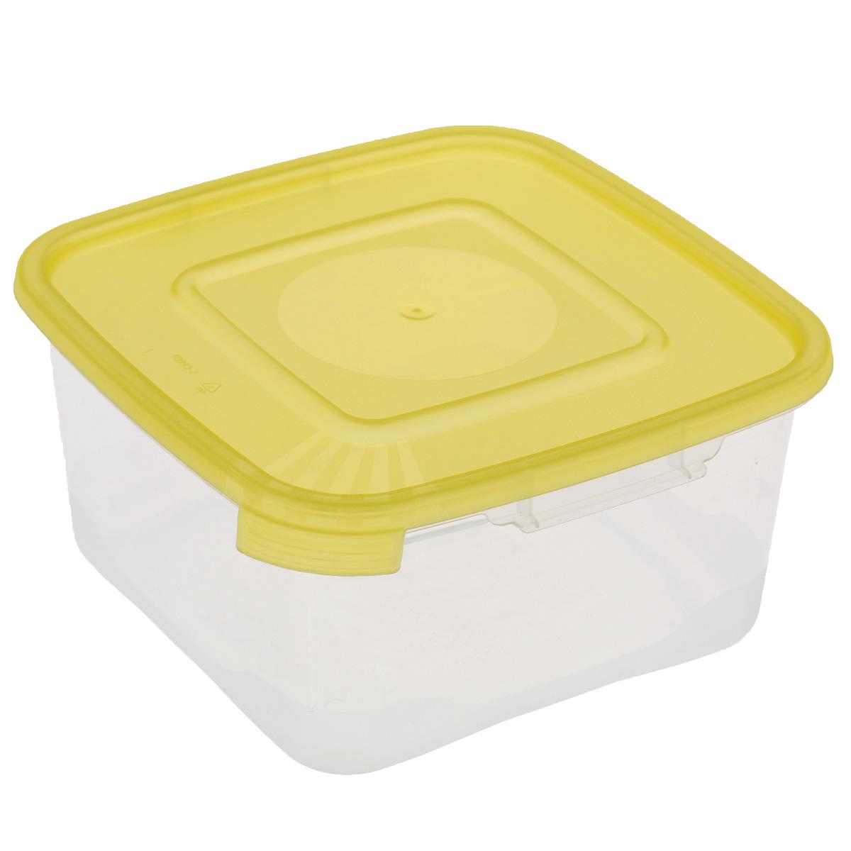 Контейнер Полимербыт Каскад, цвет: желтый, 460 млС610Контейнер Полимербыт Каскад квадратной формы, изготовленный из прочного пластика, предназначен специально для хранения пищевых продуктов. Крышка легко открывается и плотно закрывается. Прозрачные стенки позволяют видеть содержимое. Контейнер устойчив к воздействию масел и жиров, легко моется. Контейнер имеет возможность хранения продуктов глубокой заморозки, обладает высокой прочностью. Можно мыть в посудомоечной машине. Подходит для использования в микроволновых печах.
