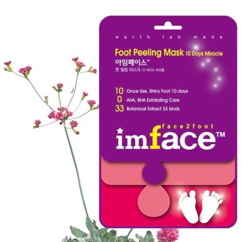 IMFACE Маска пилинг для ног 10 Days Miracle 40 мл48867mУвлажнение, питание, повышение эластичности кожи, разглаживание морщин, уход.