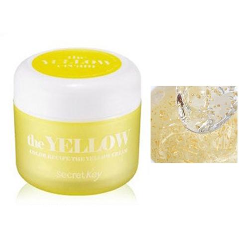 Secret Key Гель для лица против пигментации Color Recipe the yellow cream 55 гр93459Увлажняющий крем с эффектом отбеливания борется с тусклостью и неровностями кожи, нездоровым цветом лица. Содержит экстракт лимона, который отбеливает и тонизирует кожу, содержит витамины А, В, Р и С. Экстракт алоэ снимает воспаления и раздражения кожи, очищает и увлажняет ее, восстанавливает обмен веществ. Экстракт жасмина в составе крема обладает мощным регенерирующим свойством, оказывает противовоспалительное действие, придает коже гладкость и шелковистость.