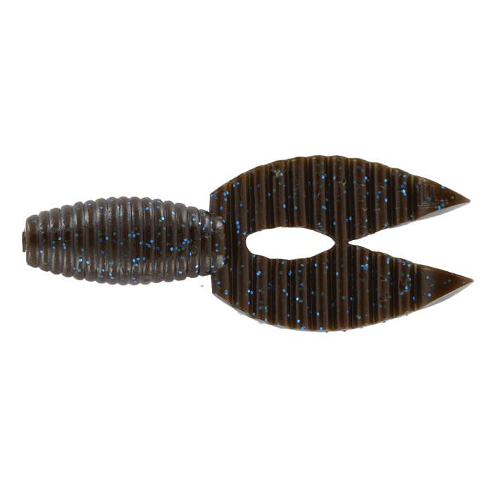 Рачок Tsuribito-Jackson Porky Chunk, цвет: коричневый, синий, 8,6 см, 6 шт80892Tsuribito-Jackson Porky Chunk сразу вызвала интерес у опытных рыболовов. Ближе всего, эта приманка, пожалуй, к рачкам. Широкий хвост-плавник состоящий из двух ребристых частей, соединенных между собой, чем-то напоминает клешни рака. Однако, если немного пофантазировать, можно разглядеть в Porky Chunk лягушку. Эта приманка, почти плоская. Сверху она одного цвета, а снизу другого, более яркого, даже кислотного. Силикон, из которого изготовлена приманка очень плотный и жесткий, значит, будет хорошо держаться на крючке, и не сильно страдать при поклевке. Во время проводки хвостик приманки колеблется в вертикальной плоскости. На рывковой и волнообразной проводках, колебания становятся более широкими. Силикон, из которого изготовлен Porky Chunk - плавающий. На паузе примака не опускается на дно, что делает её хорошо заметной для рыбы. Зарекомендовавшая себя проводка - плавная, без резких рывков или же ступеньками.