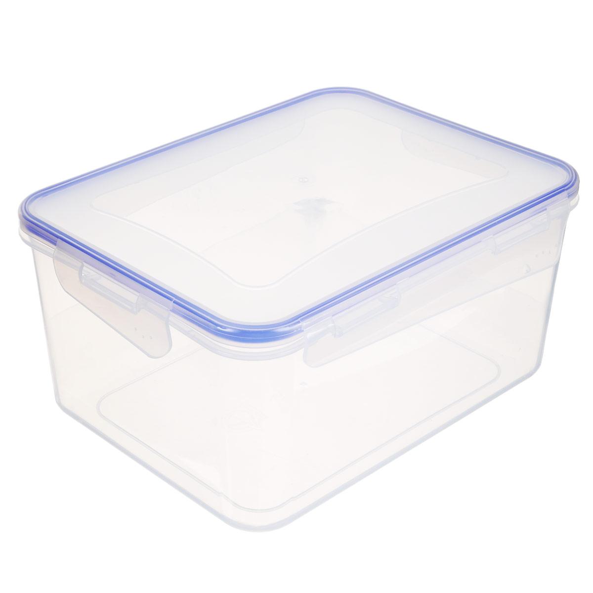 Контейнер для пищевых продуктов Алеана, 6 л167045Прямоугольный контейнер для пищевых продуктов Алеана изготовлен из пищевого полипропилена. Крышка плотно закрывается на 4 защелки, дольше сохраняя продукты свежими и вкусными. Контейнер идеально подходит для хранения пищи. Предназначен для использования в холодильнике и морозильной камере, для разморозки и разогрева продуктов в микроволновой печи (использовать без крышки - макс. 3 мин.).