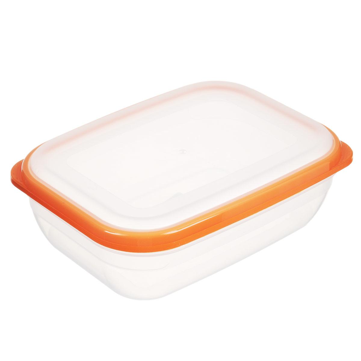 Контейнер для СВЧ Полимербыт Премиум, цвет: оранжевый, 1,2 лС562Прямоугольный контейнер для СВЧ Полимербыт Премиум изготовлен из высококачественного прочного пластика, устойчивого к высоким температурам (до +110°С). Крышка плотно и герметично закрывается, дольше сохраняя продукты свежими и вкусными. Контейнер идеально подходит для хранения пищи, его удобно брать с собой на работу, учебу, пикник или просто использовать для хранения пищи в холодильнике. Подходит для разогрева пищи в микроволновой печи и для заморозки в морозильной камере (при минимальной температуре -40°С). Можно мыть в посудомоечной машине.