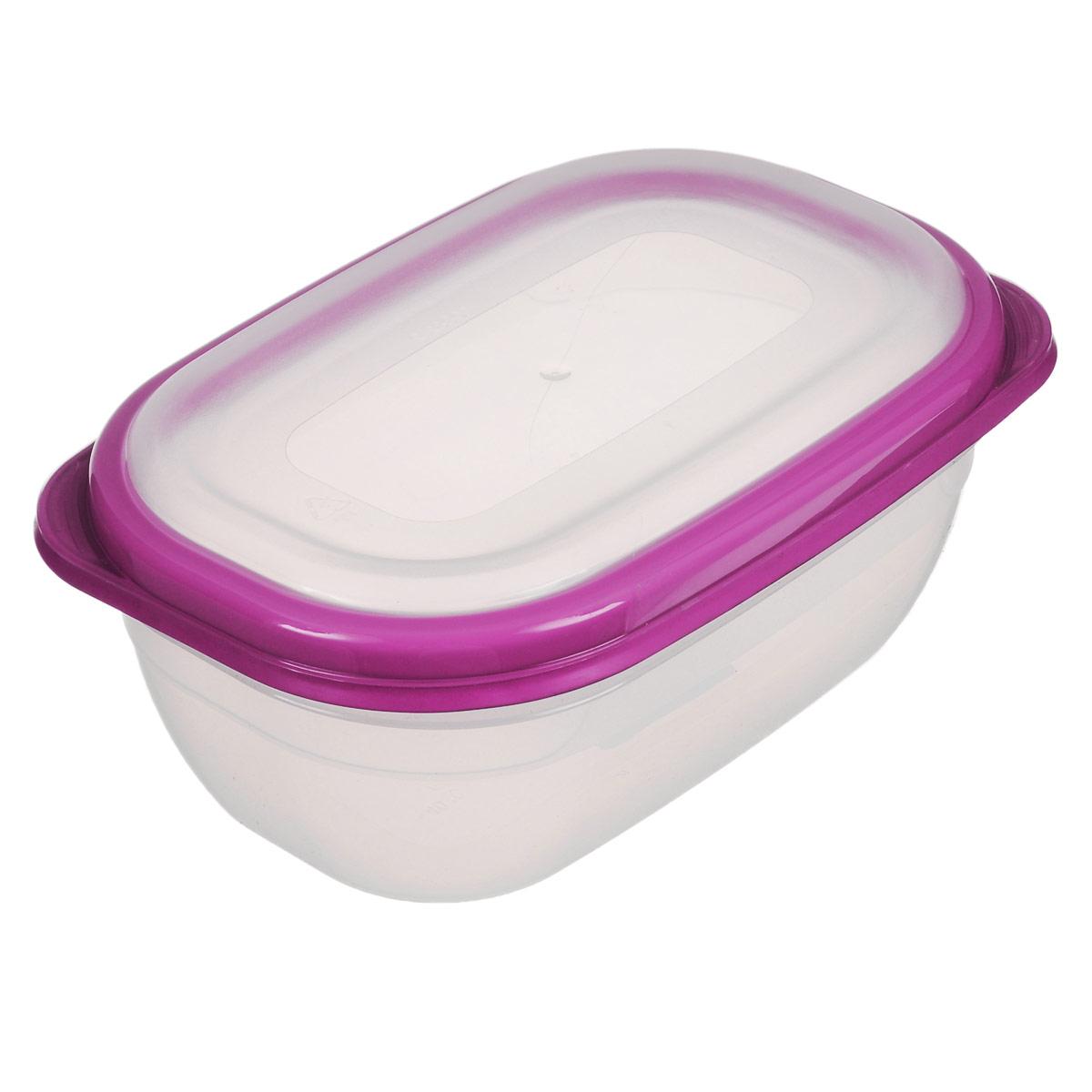 Контейнер для СВЧ Полимербыт Премиум, цвет: прозрачный, розовый, 0,5 лС560Прямоугольный контейнер для СВЧ Полимербыт Премиум изготовлен из высококачественного прочного пластика, устойчивого к высоким температурам (до +110°С). Крышка плотно и герметично закрывается, дольше сохраняя продукты свежими и вкусными. Контейнер идеально подходит для хранения пищи, его удобно брать с собой на работу, учебу, пикник или просто использовать для хранения пищи в холодильнике. Подходит для разогрева пищи в микроволновой печи и для заморозки в морозильной камере (при минимальной температуре -40°С). Можно мыть в посудомоечной машине.