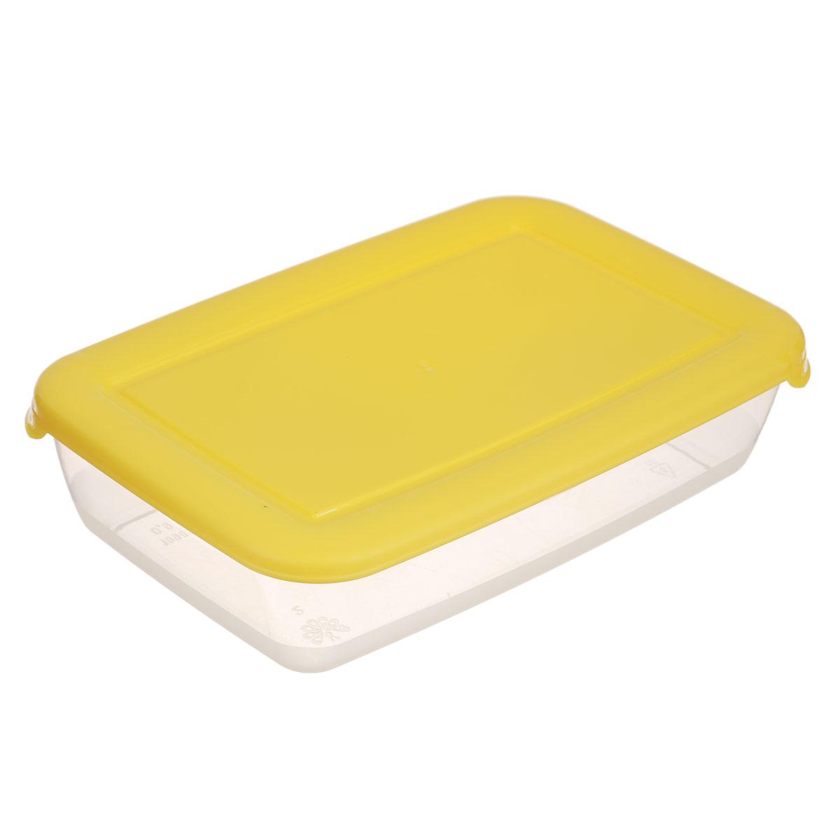 Контейнер для СВЧ Полимербыт Лайт, цвет: желтый, 900 млС552Прямоугольный контейнер для СВЧ Полимербыт Лайт изготовлен из высококачественного полипропилена, устойчивого к высоким температурам (до +120°С). Яркая цветная крышка плотно закрывается, дольше сохраняя продукты свежими и вкусными. Контейнер идеально подходит для хранения пищи, его удобно брать с собой на работу, учебу, пикник или просто использовать для хранения пищи в холодильнике. Можно использовать в микроволновой печи и для заморозки в морозильной камере при минимальной температуре -40°С. Можно мыть в посудомоечной машине.