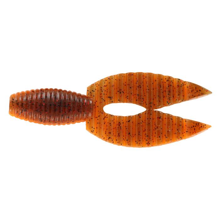 Рачок Tsuribito-Jackson Porky Chunk, цвет: оранжевый, 8,6 см, 6 шт78505Tsuribito-Jackson Porky Chunk сразу вызвала интерес у опытных рыболовов. Ближе всего, эта приманка, пожалуй, к рачкам. Широкий хвост-плавник состоящий из двух ребристых частей, соединенных между собой, чем-то напоминает клешни рака. Однако, если немного пофантазировать, можно разглядеть в Porky Chunk лягушку. Эта приманка, почти плоская. Сверху она одного цвета, а снизу другого, более яркого, даже кислотного. Силикон, из которого изготовлена приманка очень плотный и жесткий, значит, будет хорошо держаться на крючке, и не сильно страдать при поклевке. Во время проводки хвостик приманки колеблется в вертикальной плоскости. На рывковой и волнообразной проводках, колебания становятся более широкими. Силикон, из которого изготовлен Porky Chunk - плавающий. На паузе примака не опускается на дно, что делает её хорошо заметной для рыбы. Зарекомендовавшая себя проводка - плавная, без резких рывков или же ступеньками.