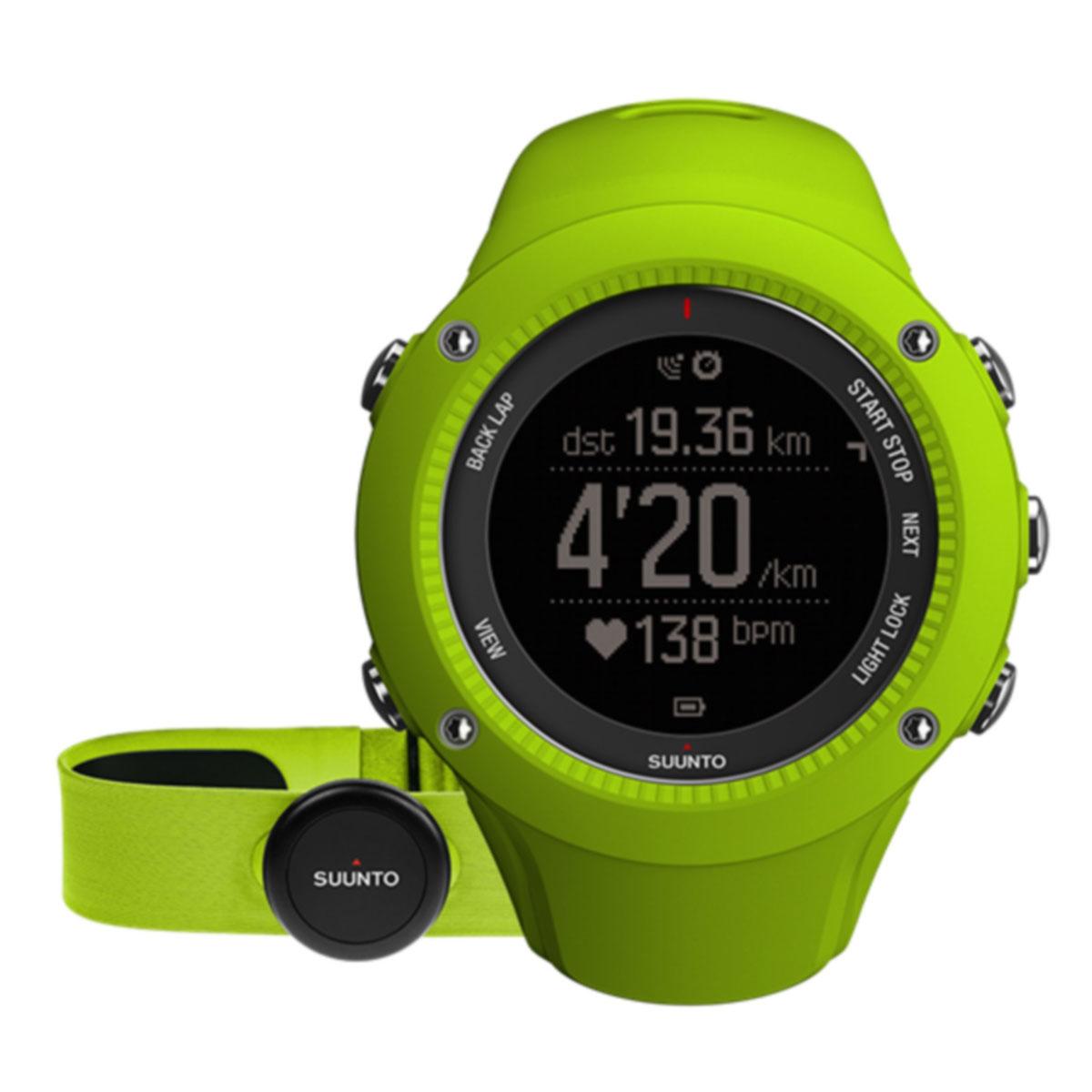 Часы спортивные Suunto AMBIT3 RUN, цвет: светло-зеленый (HR)SS021261000