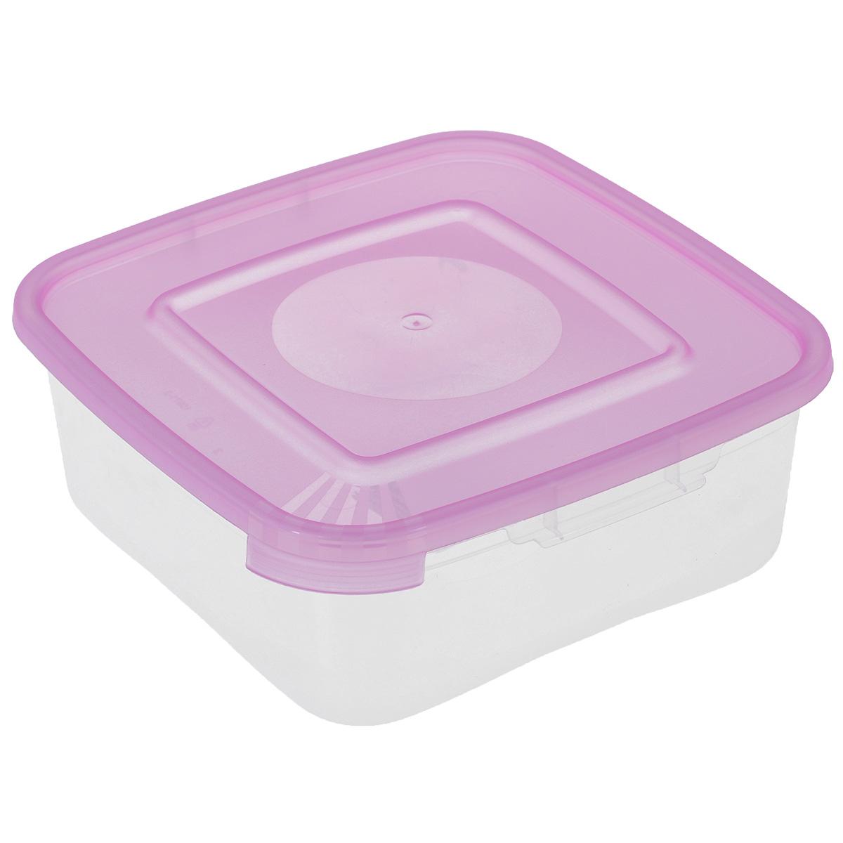 Контейнер Полимербыт Каскад, цвет: розовый, 700 млС640Контейнер Полимербыт Каскад квадратной формы, изготовленный из прочного пластика, предназначен специально для хранения пищевых продуктов. Крышка легко открывается и плотно закрывается. Прозрачные стенки позволяют видеть содержимое. Контейнер устойчив к воздействию масел и жиров, легко моется. Контейнер имеет возможность хранения продуктов глубокой заморозки, обладает высокой прочностью. Можно мыть в посудомоечной машине. Подходит для использования в микроволновых печах.
