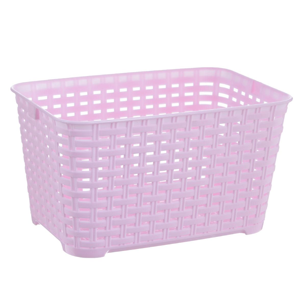 Корзина Альтернатива Плетенка, цвет: розовый, 3 л - АльтернативаМ4560Прямоугольная корзина Плетенка изготовлена из высококачественного пластика и декорирована перфорацией. Она предназначена для хранения различных мелочей дома или на даче. Позволяет хранить мелкие вещи, исключая возможность их потери. Корзина очень вместительная. Элегантный выдержанный дизайн позволяет органично вписаться в ваш интерьер и стать его элементом.