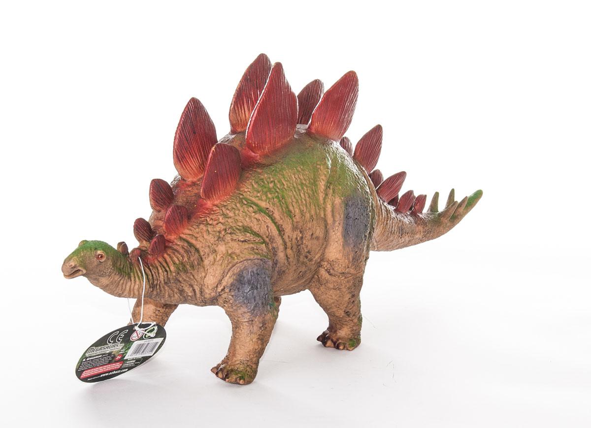 Megasaurs Фигурка СтегозаврSV17875Фигурка Megasaurs Стегозавр поможет вам мысленно перенестись в мир динозавров. Фигурка выполнена из высококачественной резины в виде динозавра с поразительной детализацией. Впервые ископаемые останки стегозавра (Stegosaurus armatus) были обнаружены Г. Маршем в 1877 году к северу от городка Моррисон, в штате Колорадо. Название было составлено Маршем из греческого, поскольку палеонтолог посчитал, что пластины лежали на спине динозавра и образовывали подобие двускатной крыши. Поначалу было описано множество видов стегозавров, которые впоследствии были объединены в три. Марш считал, что стегозавр передвигался лишь на двух ногах, поскольку передние конечности были существенно короче задних. Однако уже в 1891 году, оценив телосложение динозавра, он изменил свое мнение.