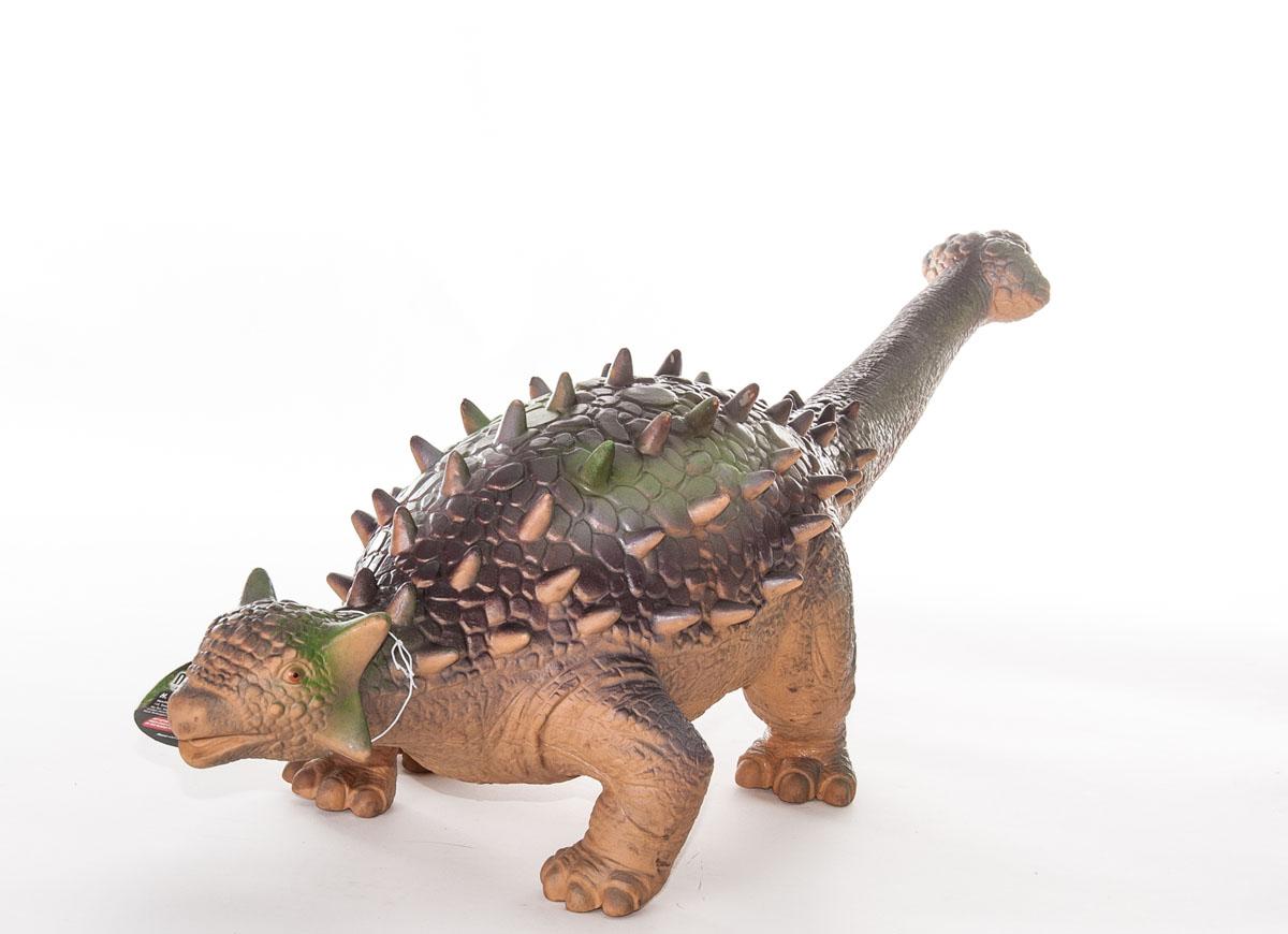 Фигурка Megasaurs ЭвоплоцефалSV17876Фигурка Megasaurs Эвоплоцефал поможет вам мысленно перенестись в древнейший мир динозавров. Фигурка, изготовленная из высококачественной резины, повторяет внешний вид ящера, который жил миллионы лет назад. Эвоплоцефал - интересный динозавр из разряда броненосцев, живший в Меловом периоде. Тело динозавра покрыто плотными пластинами и шипами. В длину он достигал 5-6 метров и весил около 2-3 тонн. На конце хвоста находилось костное булавовидное утолщение, которым он мог наносить сильные удары. Игрушка выполнена с поразительной детализацией, поэтому игра с ней будет по-настоящему интересной.