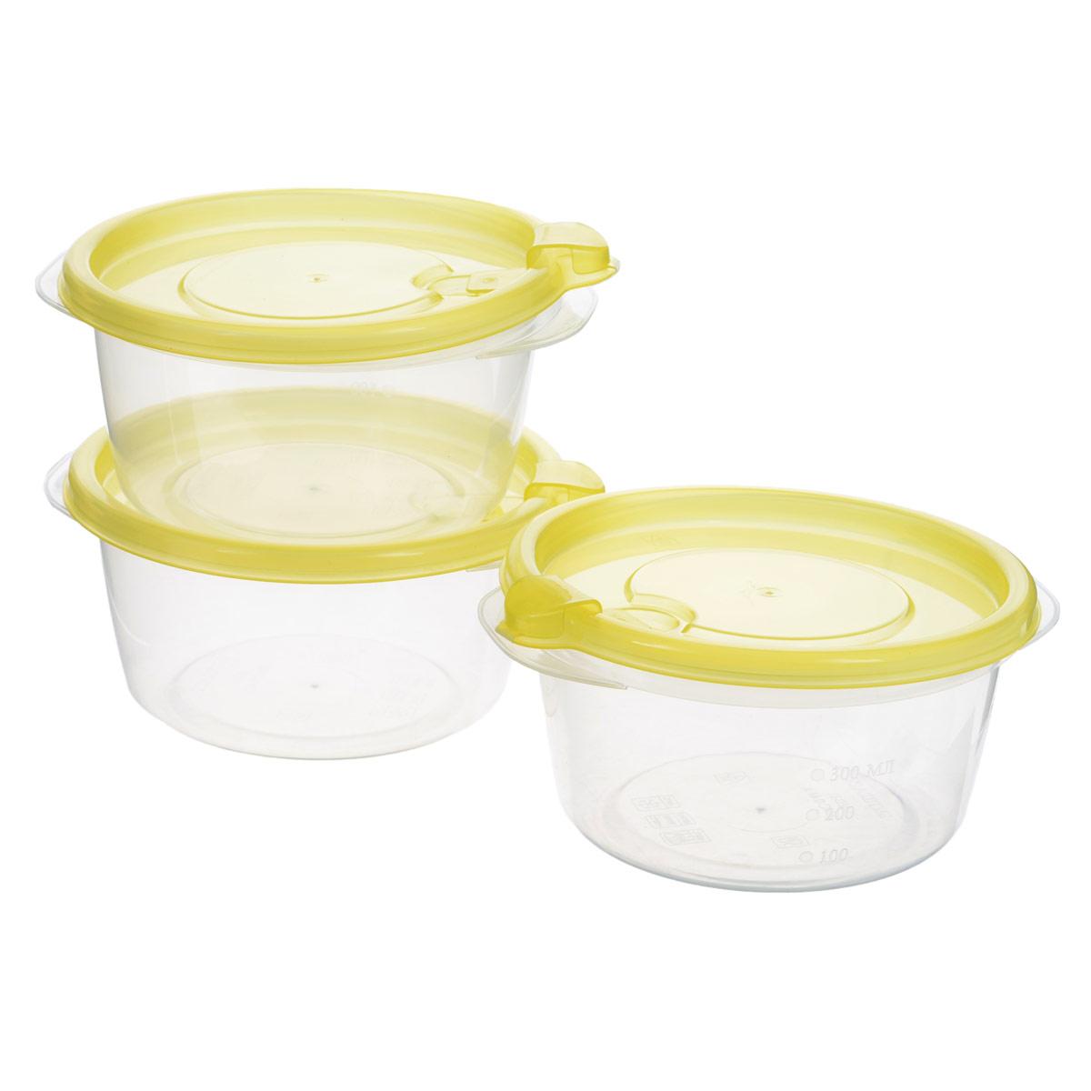 Комплект контейнеров для хранения продуктов Бытпласт Фрэш, 0,44 л, 3 шт. С11523С11523Контейнеры Бытпласт Фрэш предназначены для хранения пищевых продуктов и не только. Они выполнены из высококачественного полипропилена и не содержат Бисфенол А. Крышка легко и плотно закрывается. Контейнер устойчив к воздействию масел и жиров, легко моется. Подходит для использования в микроволновых печах, выдерживает хранение в морозильной камере при температуре -24 градуса. Пищевые контейнеры необыкновенно удобны: в них можно брать еду на работу, за город, ребенку в школу. Именно поэтому они обретают все большую популярность.