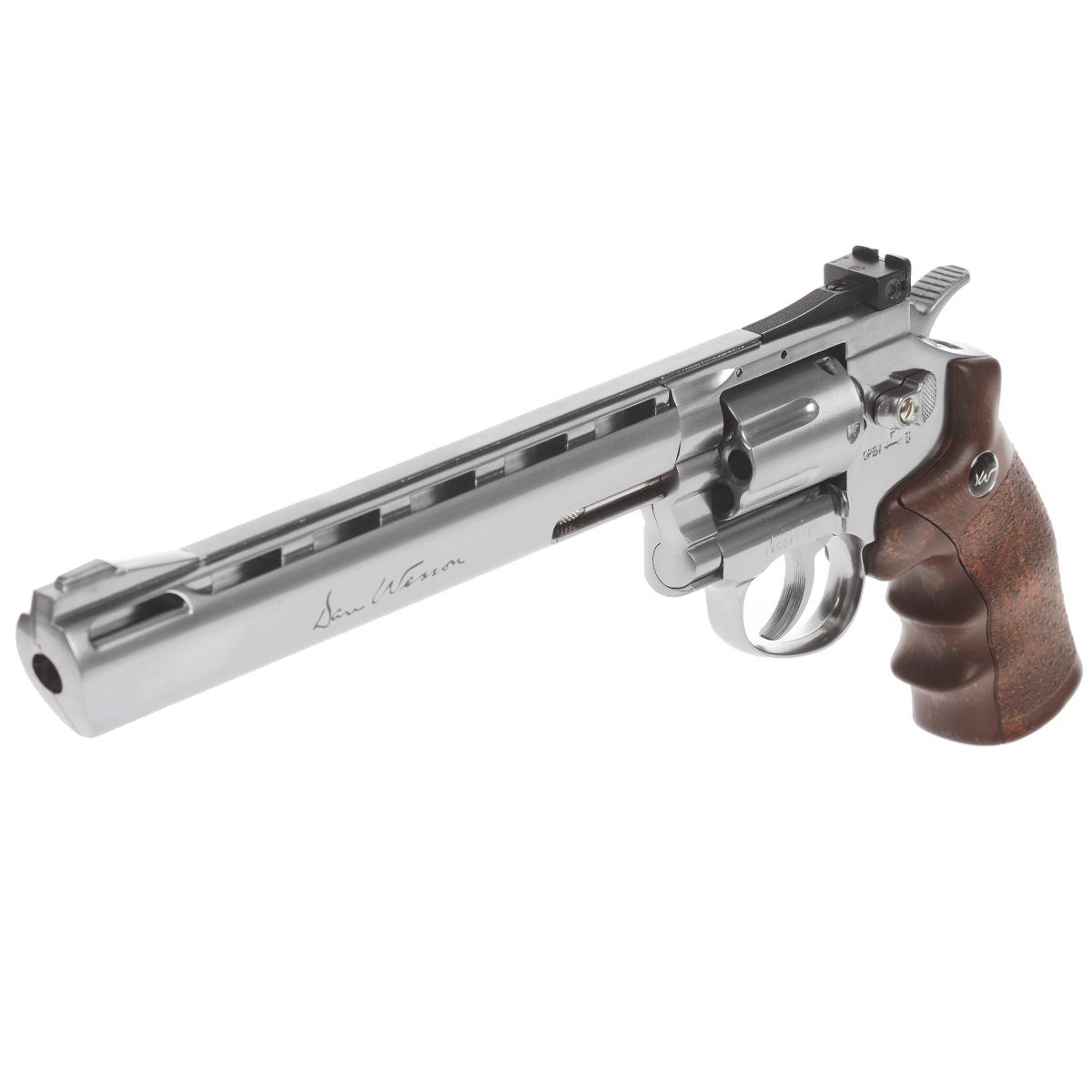 """ASG Револьвер страйкбольный ASG """"Dan Wesson 8"""" Silver CO2"""", калибр 6 мм"""