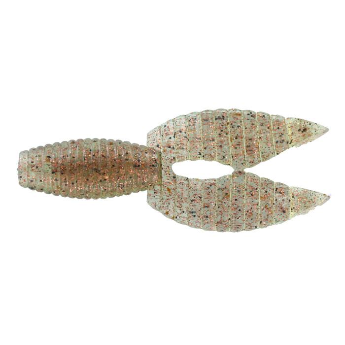 Рачок Tsuribito-Jackson Porky Chunk Jr., цвет: серый, золотой, 7,5 см, 7 шт80898Tsuribito-Jackson Porky Chunk Jr. сразу вызвала интерес у опытных рыболовов. Ближе всего, эта приманка, пожалуй, к рачкам. Широкий хвост-плавник состоящий из двух ребристых частей, соединенных между собой, чем-то напоминает клешни рака. Однако, если немного пофантазировать, можно разглядеть в Porky Chunk Jr. лягушку. Эта приманка, почти плоская. Сверху она одного цвета, а снизу другого, более яркого, даже кислотного. Силикон, из которого изготовлена приманка очень плотный и жесткий, значит, будет хорошо держаться на крючке, и не сильно страдать при поклевке. Во время проводки хвостик приманки колеблется в вертикальной плоскости. На рывковой и волнообразной проводках, колебания становятся более широкими. Силикон, из которого изготовлен Porky Chunk Jr. - плавающий. На паузе примака не опускается на дно, что делает её хорошо заметной для рыбы. Зарекомендовавшая себя проводка - плавная, без резких рывков или же ступеньками.