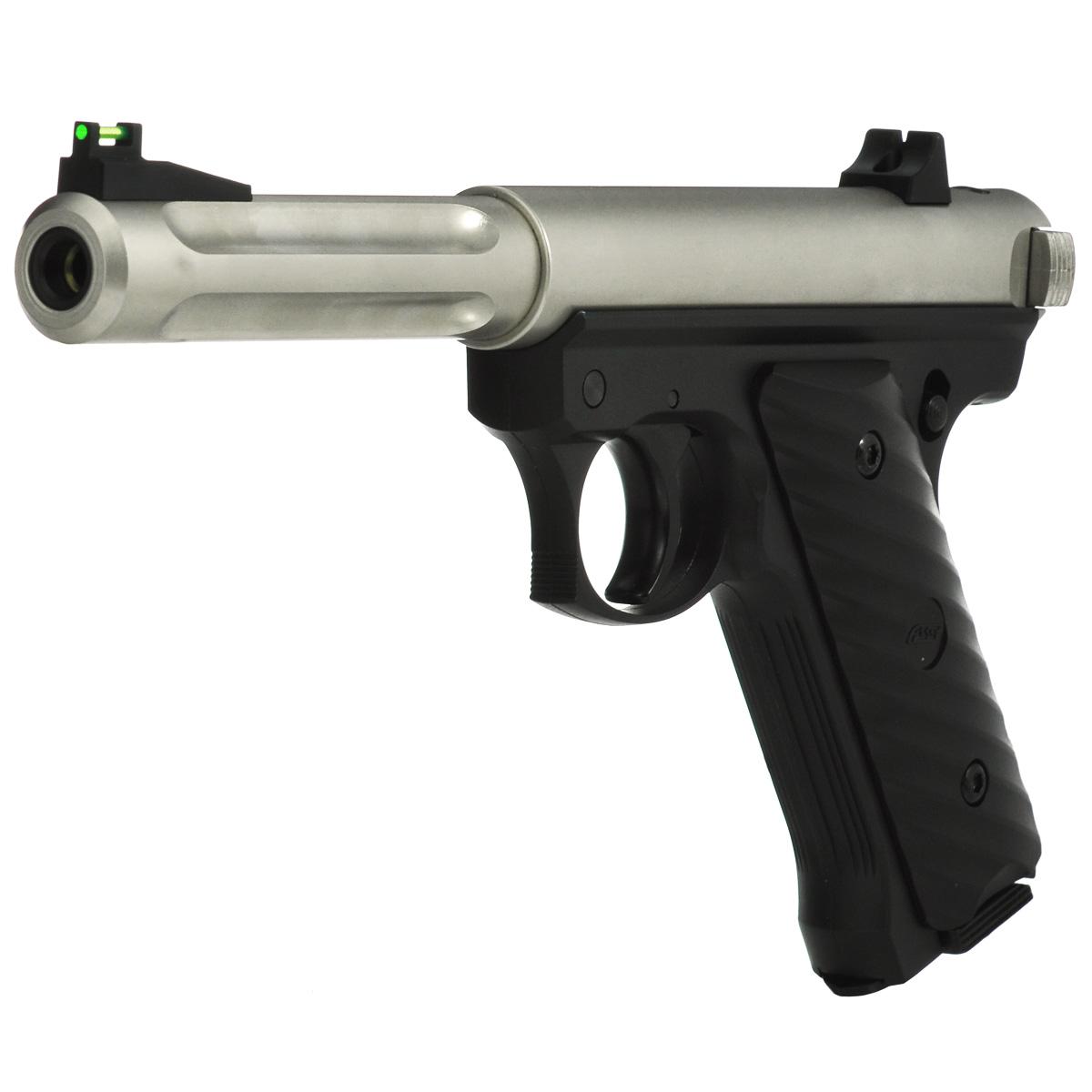 """ASG Пистолет страйкбольный ASG """"Mk II CO2 NBB"""", цвет: черный, серебристый, калибр 6 мм"""
