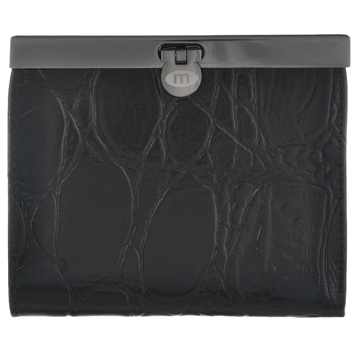 Кошелек женский Malgrado, цвет: черный. 44009-2910144009-29101# BlackСтильный кошелек Malgrado изготовлен из натуральной высококачественной кожи с декоративным тиснением под рептилию. Изделие закрывается на замок-защелку. Внутри расположены три отделения для купюр (одно из них закрывается на застежку-молнию), потайной карман, три прорезных кармашка для визиток и пластиковых карт, карман для мелочи на застежке-кнопке и два кармана с прозрачным окошком из мягкого пластика. Кошелек упакован в фирменную коробку. Такой кошелек станет замечательным подарком человеку, ценящему качественные и практичные вещи.замочек.