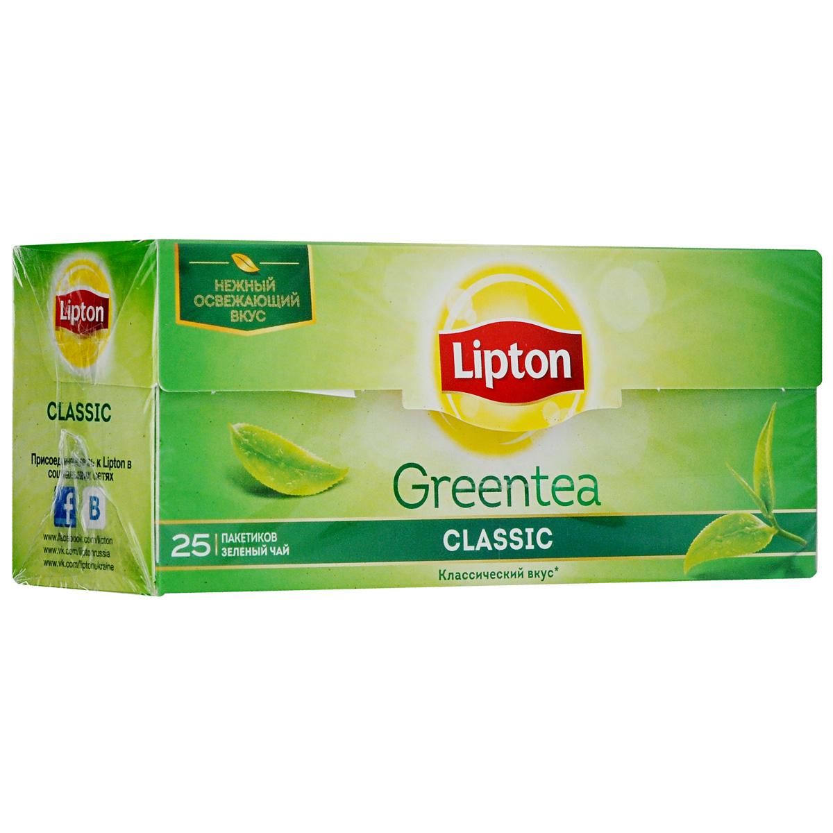 Lipton Зеленый чай Classic 25 шт