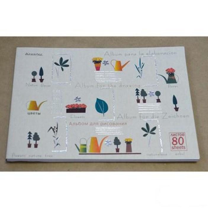 Альбом для рисования 80л.склейка, 100гр.А4, Стиль, фольга, ассорти60602Формат: А4. Количество листов: 80. Способ крепления: склейка. Материал обложки: мелованный картон.