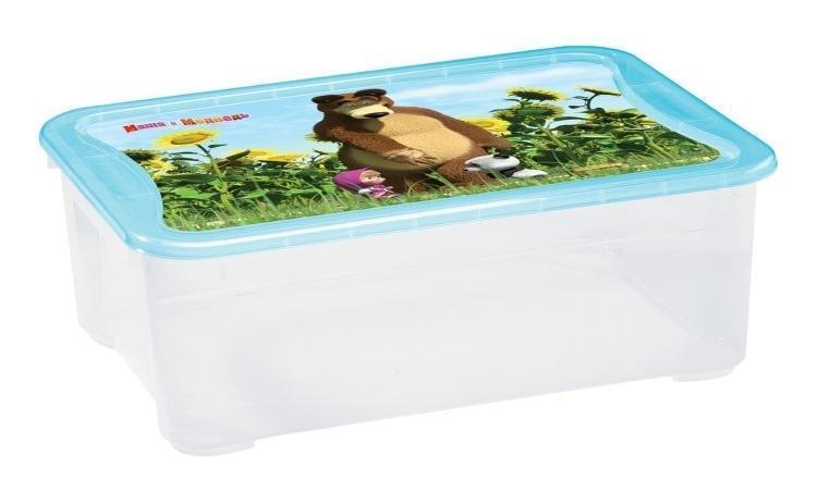 Ящик для игрушек Бытпласт Маша и медведь, 55,5 см х 39 см х 19 смС13792Вместительный легкий ящик с яркой крышкой для хранения игрушек или одежды удобно разместится в комнате ребенка. Ящик для игрушек декорирован с помощью современной технологии, которая позволяет выйти на новый уровень качества, где этикетка и товар выглядят как единое целое. Благодаря данной технологии этикетка надежно держится на изделии, легко переносит контакт с водой, жирами или другими жидкостями, а также устойчива к стиранию и прочим механическим повреждениям, что является немаловажным в быту, при транспортировке или хранении на складах. Ящики легко штабелируются, как с закрытыми крышками, так и без них, что позволяет рационально использовать пространство. Ящик безопасен даже для самых маленьких детей, благодаря своей конструкции с закругленными углами. Помыть ящик не составляет никакого труда — пластик легко моется и вытирается от пыли, что особенно важно, когда ребенок совсем еще маленький. Ящики производятся из экологически чистого сырья — это необходимо для здоровья...