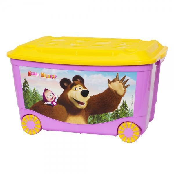 """Бытпласт Ящик для игрушек """"Маша и Медведь"""" 580х390х335мм. С13794"""