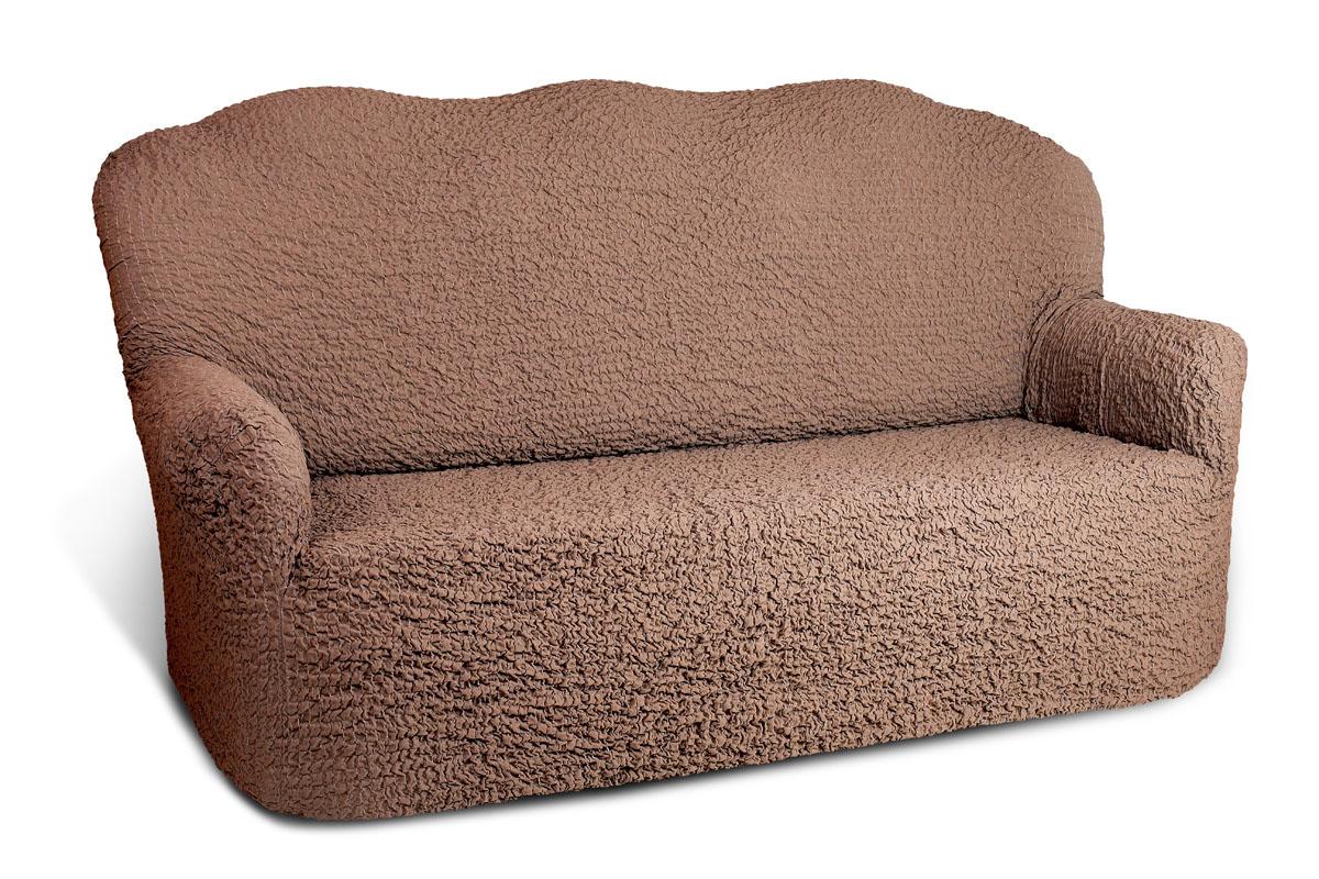 "Чехол на 4-х местный диван Еврочехол ""Модерн"", цвет: какао, 260-310 см"