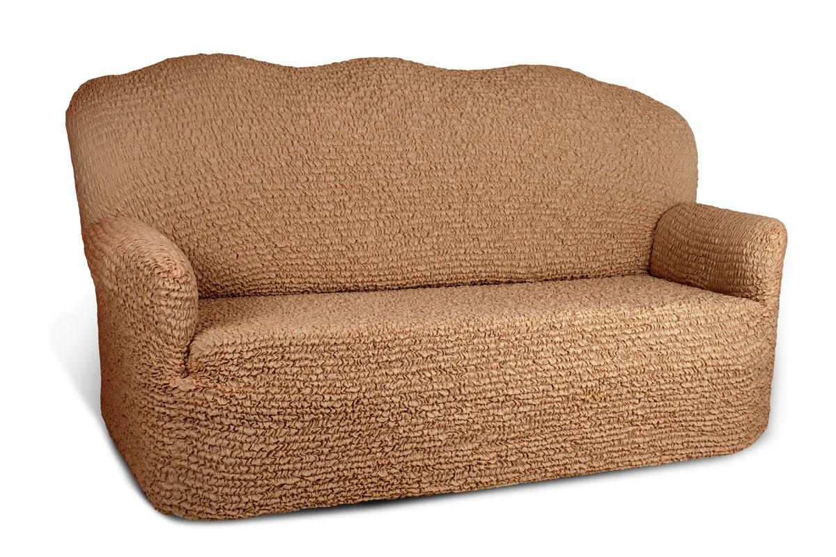 Чехол на 4-х местный диван Еврочехол «Микрофибра», цвет: кофейный, 260-310 см  детский пуфик мешок купить