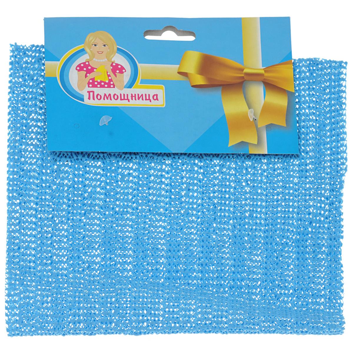 Салфетка для открывания крышек Eva, цвет: голубой, 40 х 20 смЕ792Салфетка Eva изготовлена из ПВХ и предназначена для открывания крышек. Противоскользящий материал изделия и мелкая перфорация помогут вам без труда открыть любую крышку. Салфетка Eva станет незаменимым помощником для любой хозяйки! Размер: 40 см х 20 см.
