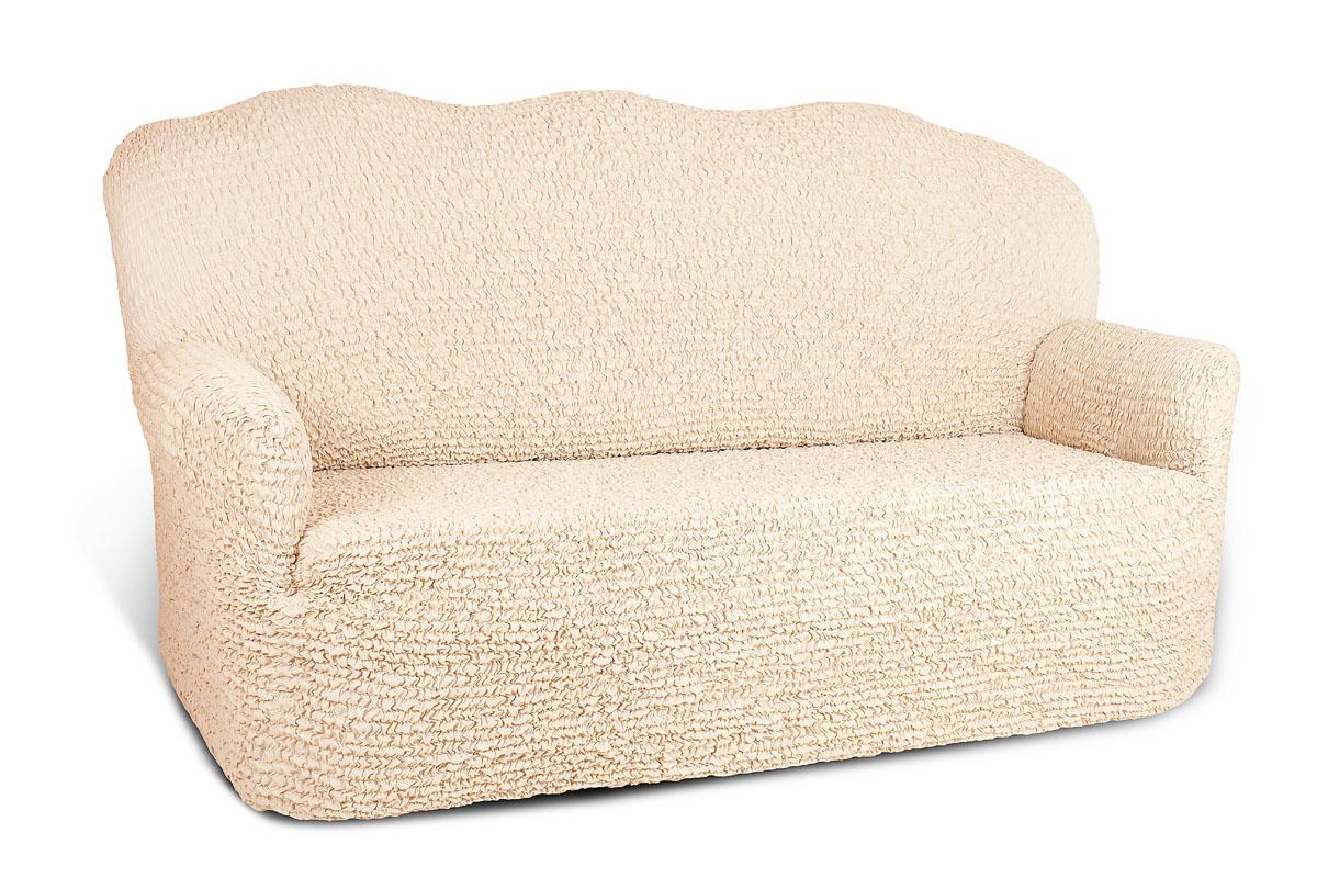 Чехол на 4-х местный диван Еврочехол «Микрофибра», цвет: ванильный, 260-310 см  дешевые журнальные столики на колесиках