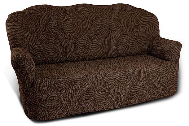Чехол на 3-х местный диван Еврочехол Этна, цвет: коричневый, 160-240 см8/73-3Чехол на 3-х местный диван Еврочехол Этна выполнен из 75% хлопка, 25% полиэстера. Он идеально подойдет для тех, кто хочет защитить свою мебель от постоянных воздействий. Этот чехол, благодаря прочности ткани, станет идеальным решением для владельцев домашних животных. Кроме того, состав ткани гипоаллергенен, а потому безопасен для малышей или людей пожилого возраста. Такой чехол отлично впишется в любой интерьер. Еврочехол послужит не только практичной защитой для вашей мебели, но и приятно удивит вас мягкостью ткани и итальянским качеством производства. Растяжимость чехла по спинке (без учета подлокотников): 160-240 см.