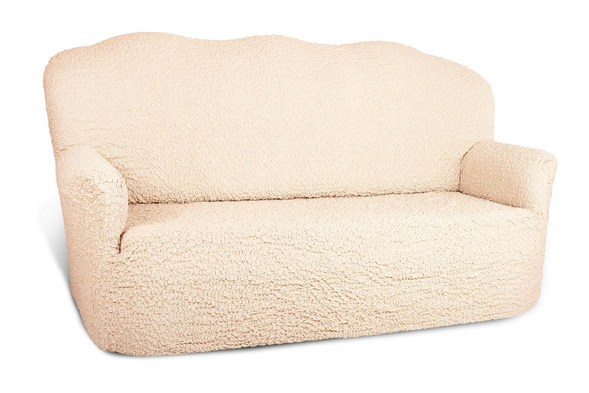 Чехол на 3-х местный диван Еврочехол Шинил, цвет: сливочный, 150-220 см4/27-3Чехол на 3-х местный диван Еврочехол Шинил выполнен из 54% акрила, 26% хлопка, 18% полиэстера, 2% эластана. Он идеально подойдет для тех, кто хочет защитить свою мебель от постоянных воздействий. Этот чехол, благодаря прочности ткани, станет идеальным решением для владельцев домашних животных. Кроме того, состав ткани гипоаллергенен, а потому безопасен для малышей или людей пожилого возраста. Такой чехол отлично впишется в любой интерьер. Еврочехол послужит не только практичной защитой для вашей мебели, но и приятно удивит вас мягкостью ткани и итальянским качеством производства. Растяжимость чехла по спинке (без учета подлокотников): 150-220 см.