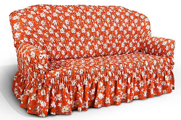 Чехол на 3-х местный диван Еврочехол Фантазия, цвет: оранжевый, 160-220 см2/17-3Чехол на 3-х местный диван Еврочехол Фантазия выполнен из 50% хлопка, 50% полиэстера. Он идеально подойдет для тех, кто хочет защитить свою мебель от постоянных воздействий. Этот чехол, благодаря прочности ткани, станет идеальным решением для владельцев домашних животных. Кроме того, состав ткани гипоаллергенен, а потому безопасен для малышей или людей пожилого возраста. Такой чехол отлично впишется в любой интерьер. Еврочехол послужит не только практичной защитой для вашей мебели, но и приятно удивит вас мягкостью ткани и итальянским качеством производства. Растяжимость чехла по спинке (без учета подлокотников): 160-220 см.